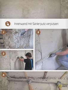 Feuchte Wand Verputzen : innenwand mit sanierputz verputzen anleitung und tipps ~ Frokenaadalensverden.com Haus und Dekorationen