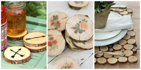 easy wood slice crafts diy wood slice project ideas
