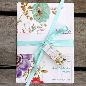 floral belly band wedding invite with wood effect background With belly bands for wedding invitations uk