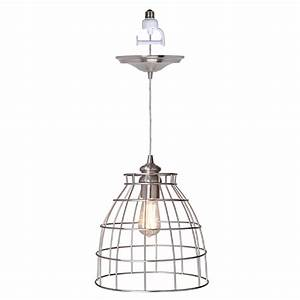 Instant pendant series light brushed nickel recessed