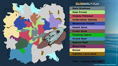 Subnautica Map Biome Biomes Reef Grand Wikia