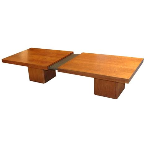 walnut slide top coffee table by keal at 1stdibs