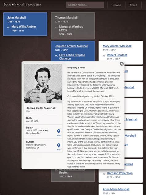 john marshall family tree website design design thomas