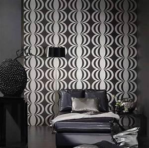 Tapete Ornamente Silber : tapete perseus schwarz silber tapeten der 70er ~ Sanjose-hotels-ca.com Haus und Dekorationen