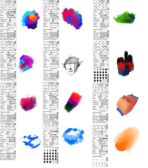 brushes type for paint tool sai by ryky deviantart on