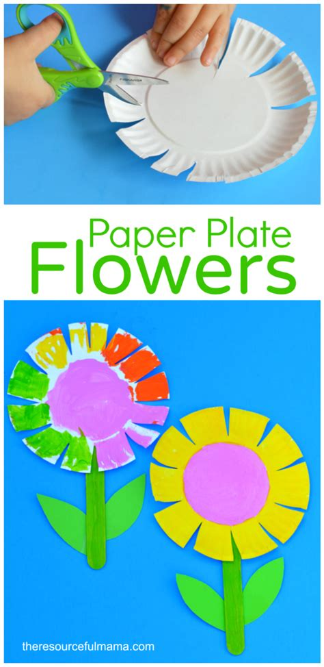paper plate flower craft for school age activities 734 | a9cd22b825e2c0be7e5cb785dfd8553a