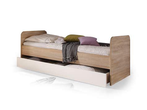 Cassian Bett 90x200 Eiche Sonomaweiß