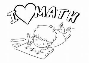 I Love Math Coloring Book