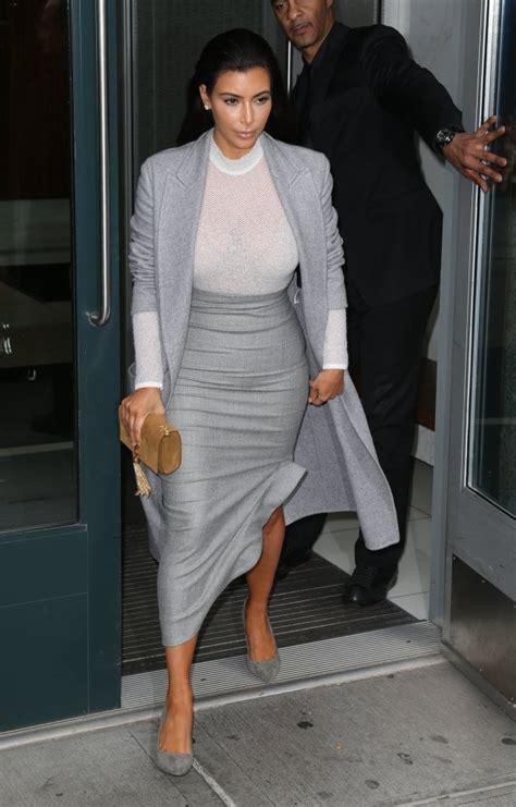 kim kardashian pencil skirt kim kardashian clothes  stylebistro