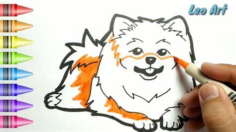 hebat cara menggambar dan mewarnai anjing lucu dengan