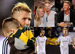 Photos of David Beckham New Hair Cuddling Cruz, David ...