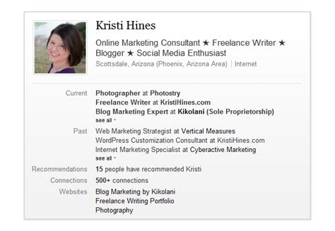 personal profile exles for link building 101