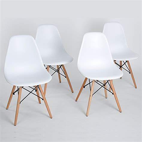 set of 4 eames eiffel dsw style side dining chair