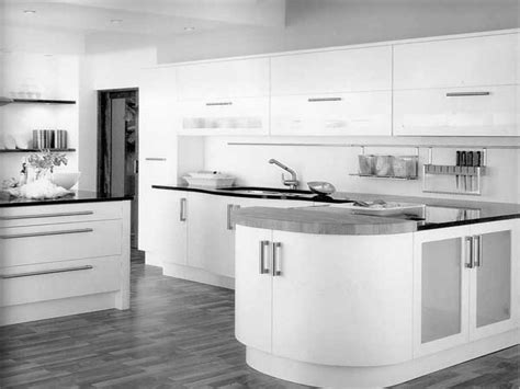 contemporary black and white kitchen amazing white gloss kitchens ideas for your home 8306