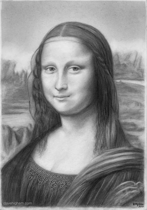 pencil portrait   mona lisa dave higham