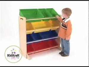 Meuble Enfant Rangement : meuble de rangement en bois 12 bacs pour enfant kidkraft youtube ~ Farleysfitness.com Idées de Décoration