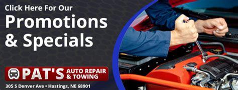 pats auto repair towing hastings ne tires auto