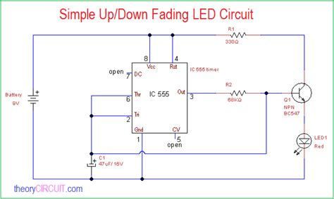 Simple Down Fading Led Circuit