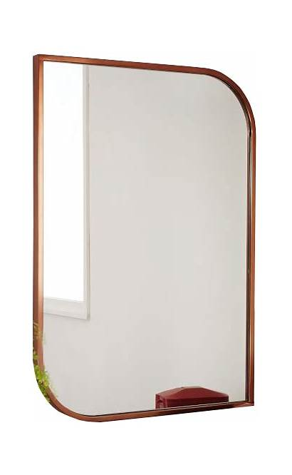 Mirror Rose Gold Wall Framed Decorist Metal