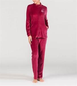 Tenue Interieur Femme Velours : pyjama velours zipp pour femme grenat egatex lingerie sipp ~ Teatrodelosmanantiales.com Idées de Décoration