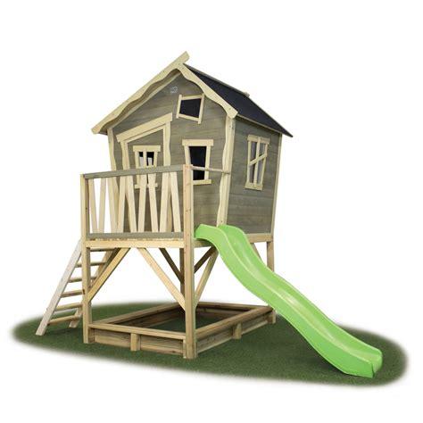 kinderspielhaus mit sandkasten kinder spielhaus exit 171 crooky 500 187 kinderspielhaus holz stelzenhaus vom spielger 228 te fachh 228 ndler