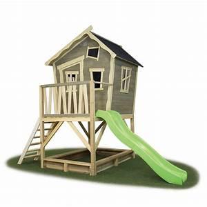 kinder spielhaus exit crooky 500 kinderspielhaus holz With französischer balkon mit kinderhaus holz garten