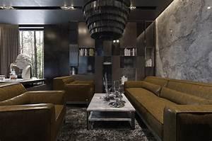 Three, Luxurious, Apartments, With, Dark, Modern, Interiors
