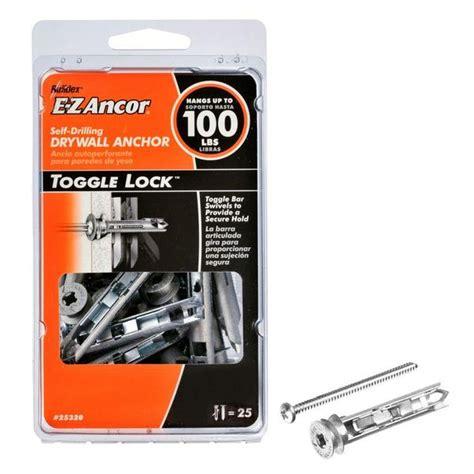 ancor  toggle lock  drilling drywall anchors  lb  toolboxsupplycom