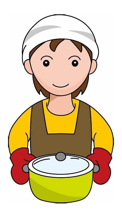 Cooking Clip Clipart Kitchen Transparent Cook Clipartix