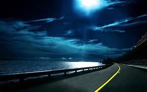 Night Highway Desktop Wallpaper  Desktop