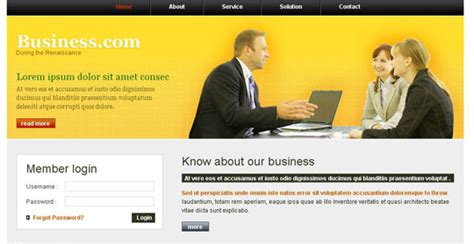 Free Business Web Templates Css