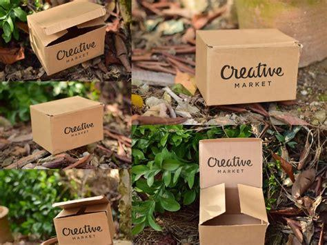 Free all free mockups branding & stationery. Free 5 Cardboard Mockup PSD em 2020 (com imagens) | Embalagens