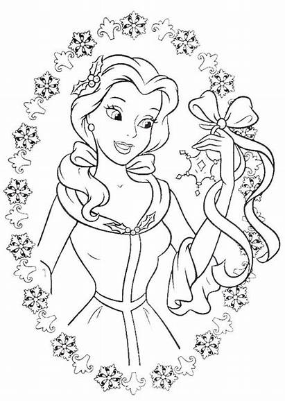 Belle Disney Coloring Princess Pages Walt Characters