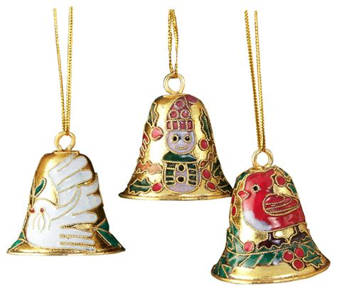 12 cloisonne bell ornament 12 piece cloisonne bell ornament set traditional christmas ornaments by value arts