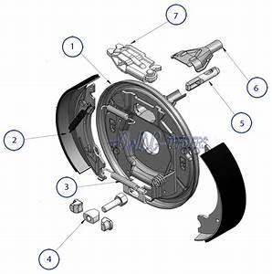 Left Hand 203x40mm Knott Trailer Brake Backplate Assembly