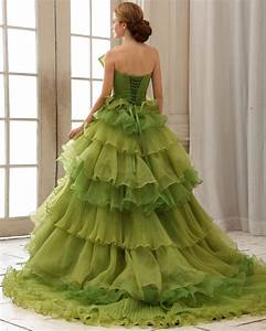 elegant collection of green princess wedding dresses for With organic wedding dress