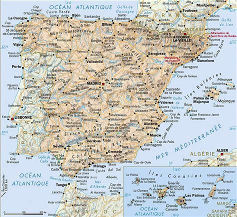 Cote Atlantique Espagne Carte by Espagne Voyages Cartes