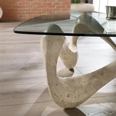 plateau de bureau en verre table basse de design en verre et fossile tetris