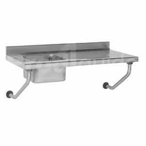 Table suspendue inox avec évier sans robinet Prodiguide