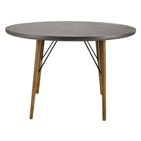 d and d table wooden round dining table d 120cm cleveland maisons du monde