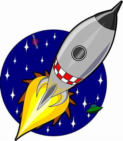 Rocket Cartoon Clipart Svg Space Clip Flying