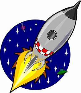 Clipart - Cartoon rocket