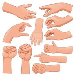 Free Vector Cartoon Hands