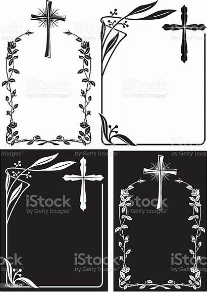 Obituary Frames Cross Template Vector Abstract Deco