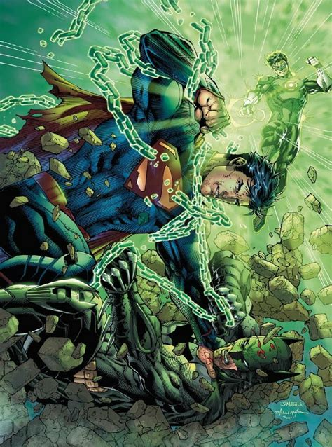 League Kumo Green batman and green lantern vs superman by jim