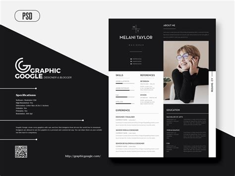 Ever thought it odd that these two english. Free Creative Modern CV-Resume With Cover Letter For Designers - Graphic Google - Tasty Graphic ...