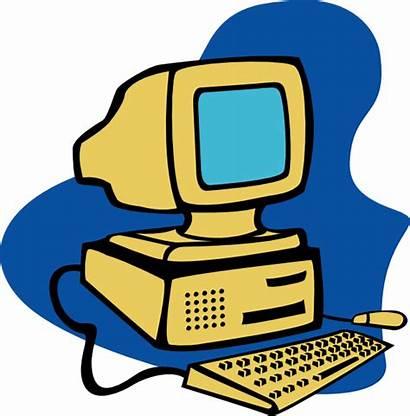 Computer Clip Clker Yellow Clipart Svg