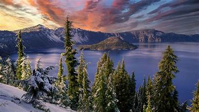 4k Winter Hdr Snow Landscape Mountains Trees