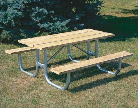 steel picnic table frame outdoor metal picnic tables galvanized steel