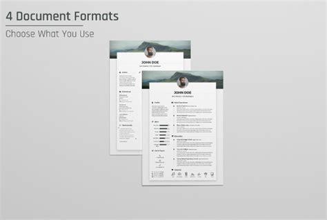 free resume cv design template cover letter in doc psd